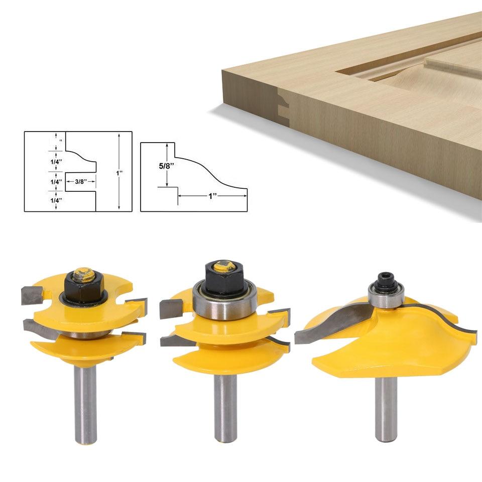 8mm Shank Raised Panel Router Bit Ogee Door Woodworking Cutter