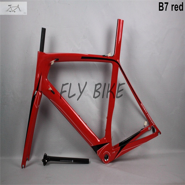 Cheap 2016 cool model DCRF07 carbon road bicycle frame set: frame+fork+seat post+clamp+headset,BSA/BB30 ,carbon bike frame