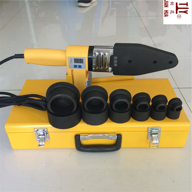 Envío gratis Nuevos dispositivos de pantalla digital de 20-63 mm máquina de soldadura ppr soldador de tubos de plástico elemento de calentamiento de agua para soldar pvc