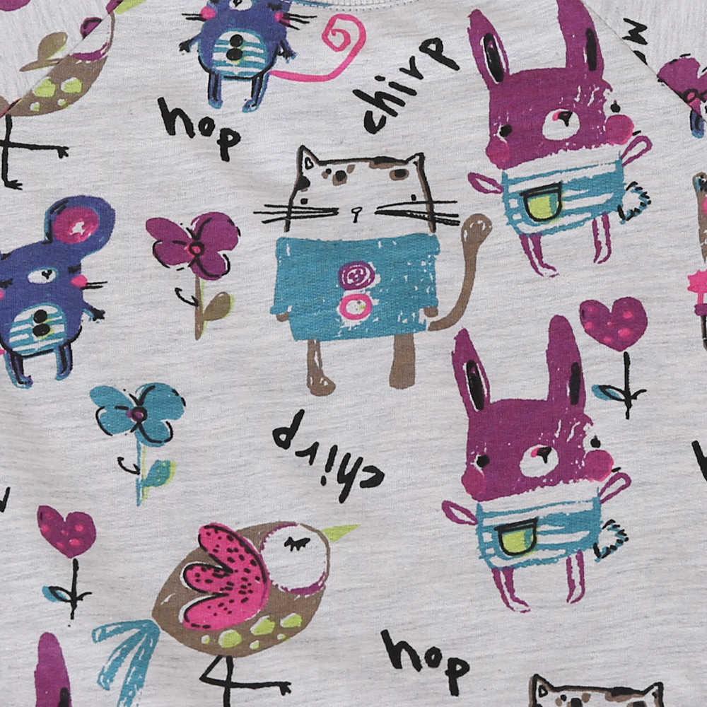 ER Hallo Genießen Kinder Mädchen Kleidung Kleinkind Mädchen Kleidung Sets Druck Graffiti Langarm Sweatershirt + Hose Anzüge 2018 Herbst