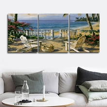 House Seaside Seascape Wall Picture Poster Print Canvas Painting Calligraphy Decor for Living Room Bedroom Home Frameless