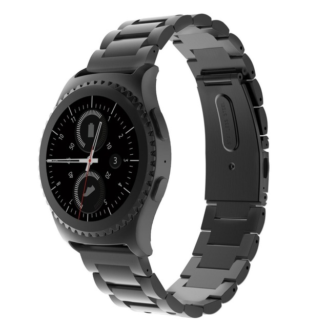 20mm width Stainless Steel band for Samsung Gear S2 Metal Buckle Classic Watch S