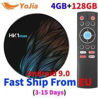Мини 4K Smart tv BOX Android 9,0 RK3318 4 Гб ОЗУ 128 ГБ HK1 MAX ТВ приемник медиапроигрыватель Google Assistant телеприставка HK1MAX 2019