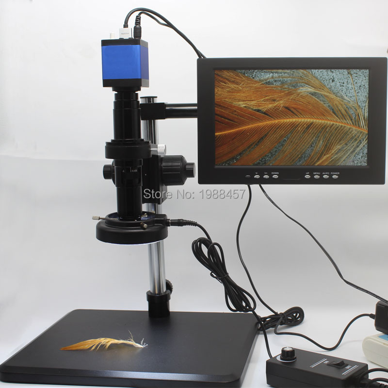 1080 P HDMI USB промышленный микроскоп Камера видео лупа Отделка кронштейн 10-дюймовый montior мобильного телефона доска Ремонт