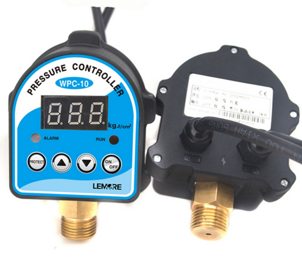 New 1PCS Digital Pressure Control Switch WPC-10 Digital Display Eletronic Pressure Controller for Water Pump With Adapter