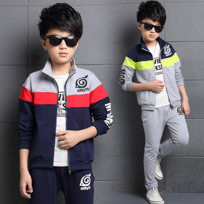 цены на 2Pcs Coat+Pants 6T-16T Children's Clothing Sets Kids Clothes Sports Suits Casual Letter Printed Long Sleeves Autumn For Boy V20 в интернет-магазинах