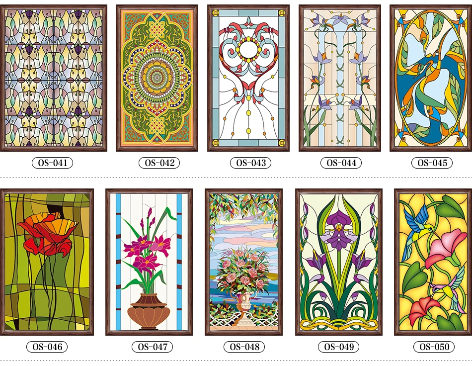 Custom Stained Glass Stickers For Windows Scrubs Translucent Church