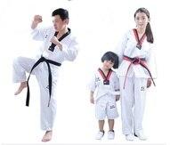 Good Quality Child Adult Karate Uniform Suit WTF Taekwondo Kick Boxing MMA Martial Karate Clothing Training