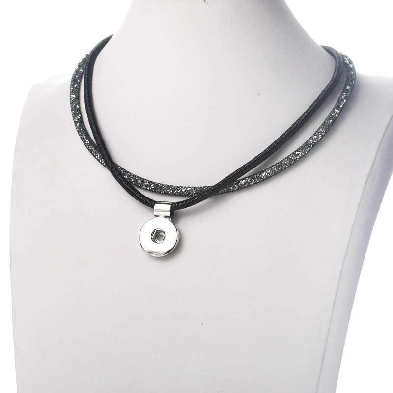 Baru Fashion Snap 18 Mm Bersinar Snap Tombol Kalung Vintage Grosir Snap Magnetik Liontin Kalung Wanita Perhiasan