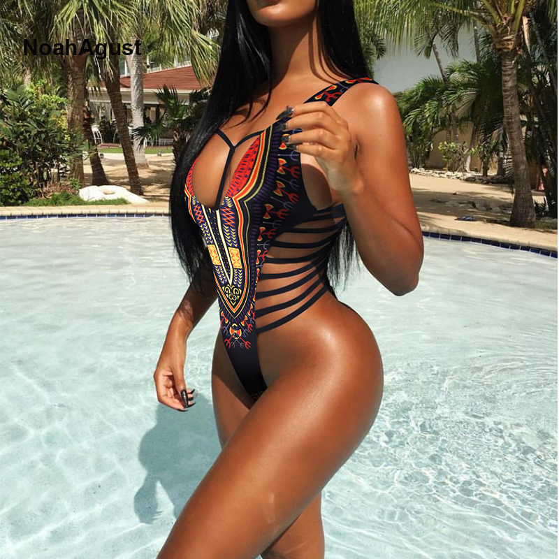 High Cut Brazilian Sexy Thong Monokini Swimsuit Women One Piece Swim Suit African Swimwear Female Swimming Suit Bandage Bikini high neck one piece swimsuit women high cut thong swimwear sexy bandage trikini hollow out mesh bodysuit female zipper monokini