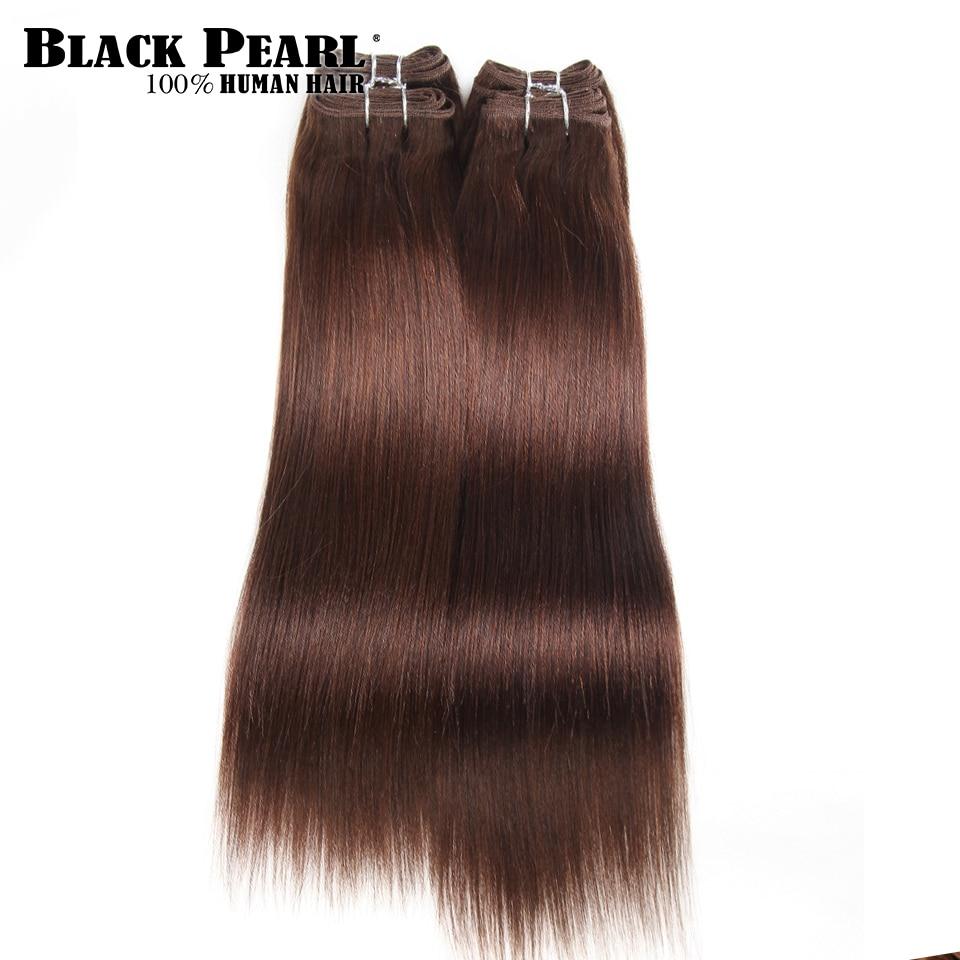 Pre-Colored Yaki Human Hair 4 Bundles One Pack 190 Gram Brazilian Straight Hair Bundles Color 4# Free Ship Non-Remy Hair