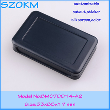 2 pcs/lot free shipping handheld enclosure case for electronic 53 x 85x 17 mm electronic enclosure