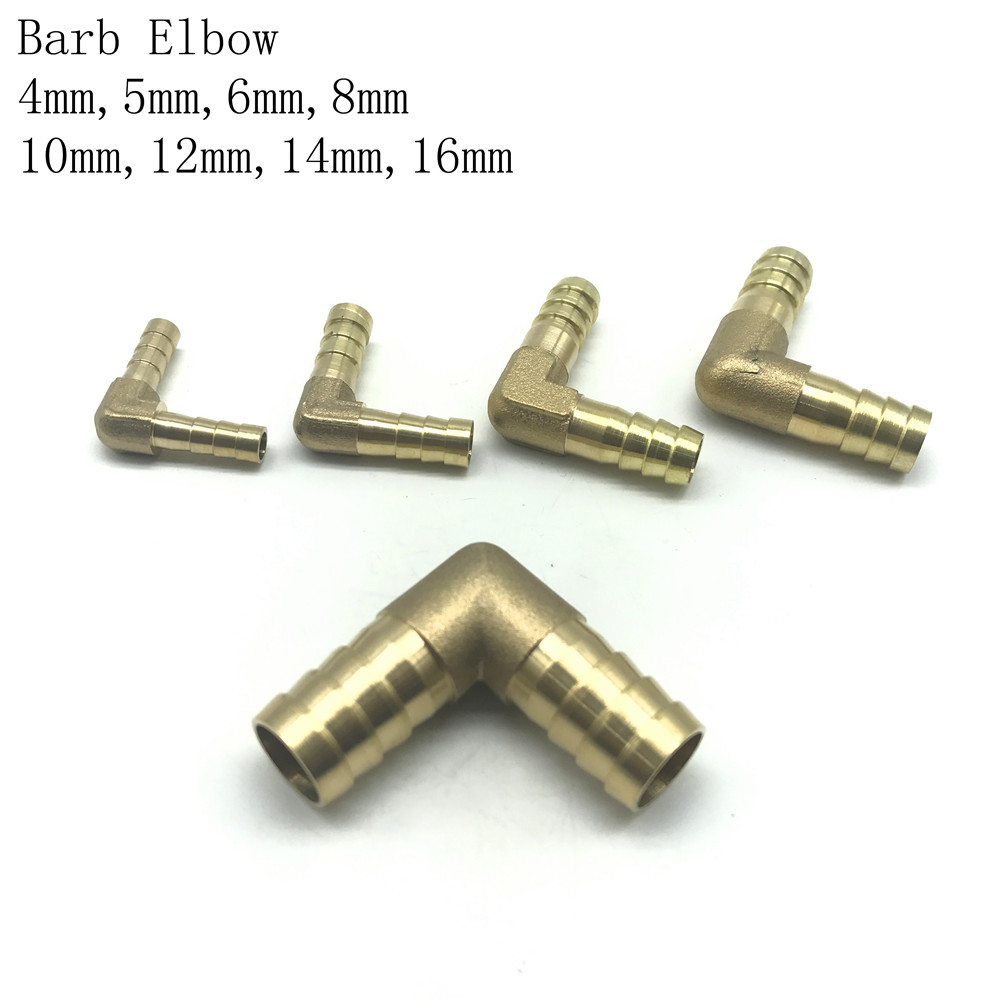 4 5 6 8 10 12 14 16 19mm Hose Barb Brass Pipe Reducer Coupler Connector Adapter