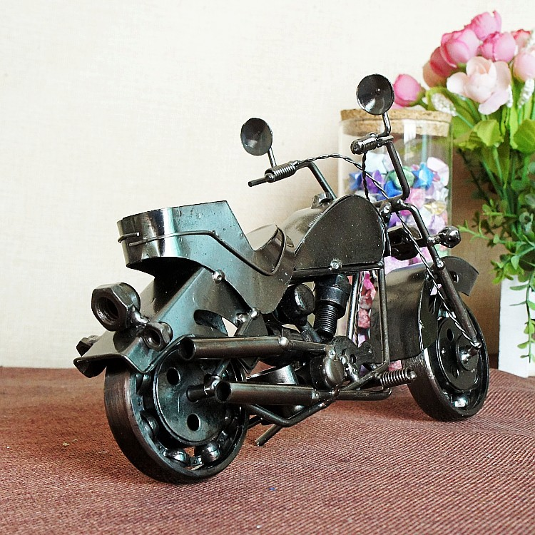 цена на Harley-davidson Motorcycle Model Metal Crafts M129C Home Office Talbe Decor Collection Model