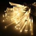 10 unids 10 M 80 LED de Fibra Óptica Luz de La Secuencia de hadas de la Navidad/navidad/bodas/pascua/halloween/Jardín/Guirnalda Party decor-whit Caliente