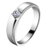 925 Sterling Silver Ring For Men Real Silver Finger Ring Zircon Couple Love Big Size