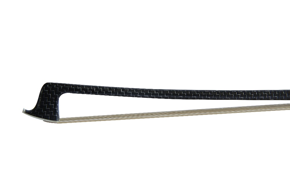 Купить с кэшбэком Nickel Silver Fabric Braided Black  Carbon Fiber Violin Bow FP806