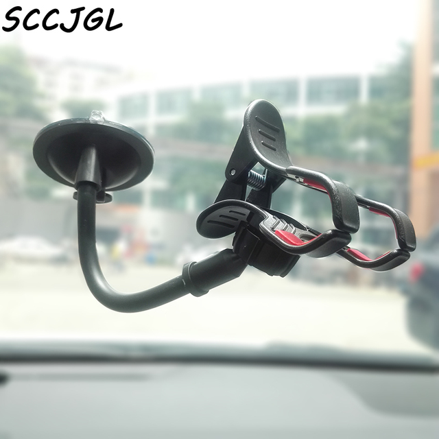 [ Car Phone Holder ] Universal car window Sucker Long Neck Stand Support Mobile Holder For Iphone 6 6s plus SE For oneplus