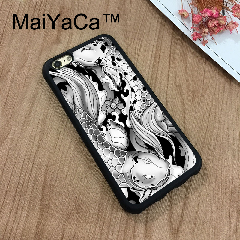 Knowledgeable Maiyaca Koi Carp Fish Japanese Floral Cherry For Iphone 8 Coque Full Protection Soft Tpu Back Cover For Iphone 8 Phone Cases Elegant Shape Phone Bags & Cases