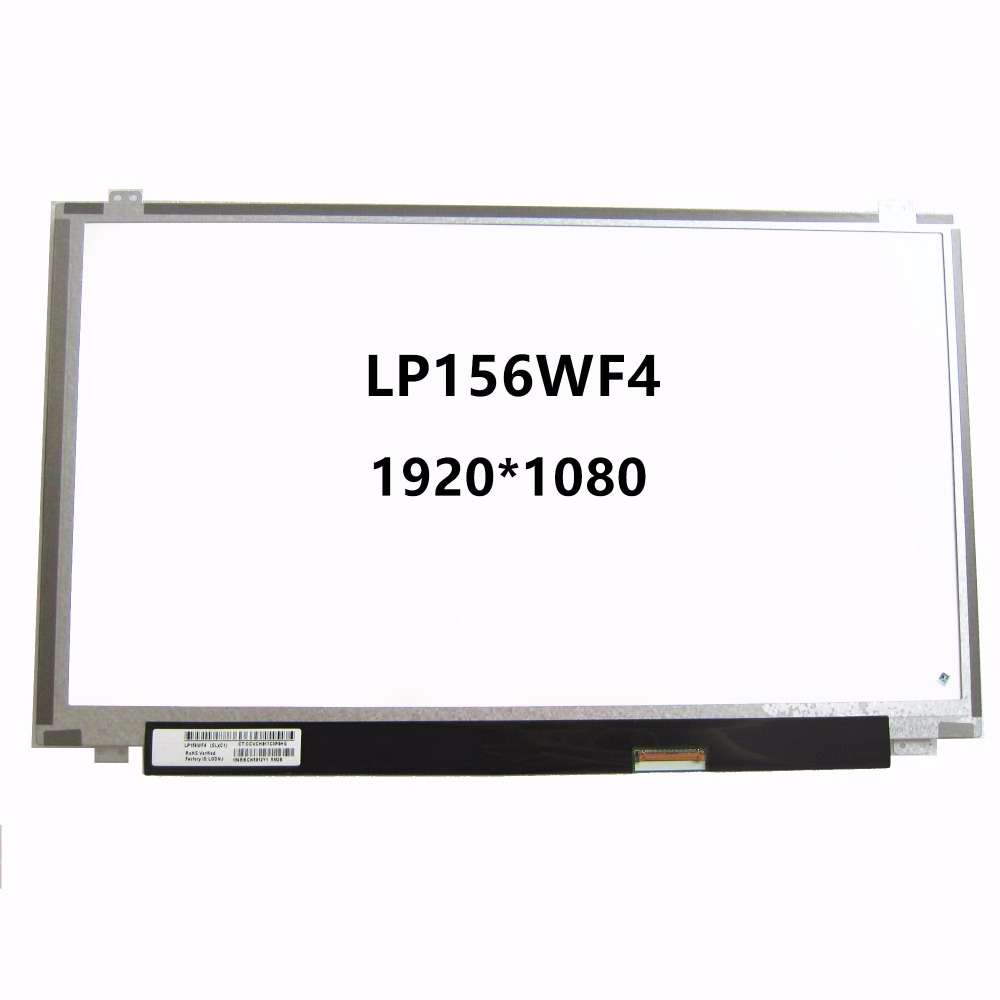 New 15.6 Laptop IPS LCD LED Screen Display Matrix 1920X1080 40 Pins LP156WF4 SLC1 SLB3 SLB7 SLB6 LP156WF4 SLB5 LP156WF4 SLB2 genuine 12 laptop matrix for macbook a1534 lcd led replacement screen display brand new 2015 2016 years