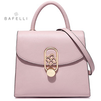 BAFELLI split leather box bag