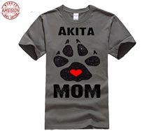 Akita Mom Dog Paws Prints - Akita Shirts Mother's Day Ms. T-shirt недорго, оригинальная цена