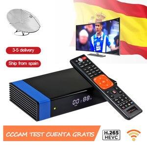 Image 3 - ТВ приставка GT Media V8 Nova, спутниковый ресивер RCA, H.265, встроенный Wi Fi + 1 год, Европа, Испания, CCcam Clines, версия V8 Super
