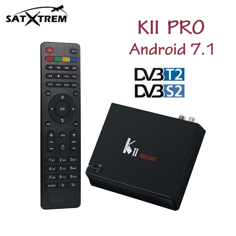 MECOOL KII Pro TV Box DVB-T2 DVB T2+S2 Amlogic S905D Quad-core Android 7.1 Media Player 2GB RAM 16GB ROM 2.4G/5G Wifi IPTV Box android box iptv stalker middleware ipremuim i9pro stc digital connector support dvb s2 dvb t2 cable isdb t iptv android tv box