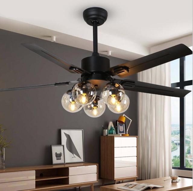 Living Room Ceiling Fan Light Simple Modern Nordic Magic Bean Fan Chandelier Home Bedroom Restaurant Silent Led Fan Light Pendant Lights Aliexpress