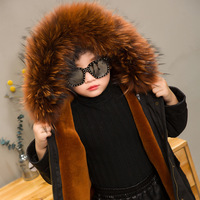 JKP2018 From the stars the same paragraph autumn and winter large and small children's leather grass lamb liner baby coat CT 55