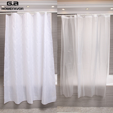 цена на 2 Pcs Shower Curtain Bath Screens 100% EVA Bathroom Curtains White Polyester Waterproof Solid Luxury Bath Curtains Appliance