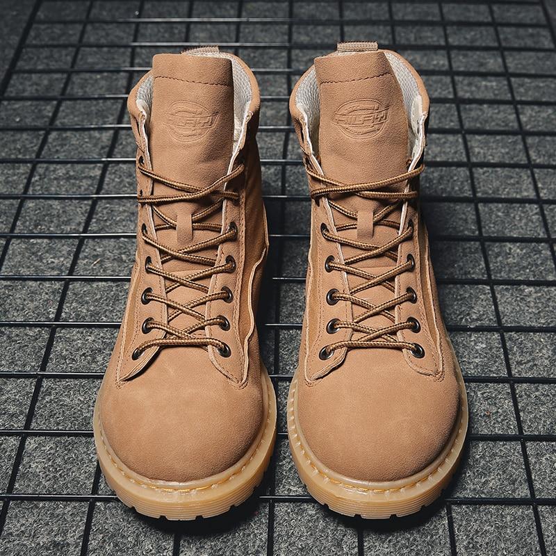 31918646661dc9 Bottes black Mode Chaud Qualité D'hiver Casual Haute Footwears De  Espadrilles Confortables Tendance Beige Mâle Homme Chaussure ...