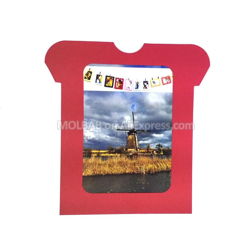 T shirt shape photo frames wall decor diy multi color hanging t shirt shape photo frames wall decor diy multi color hanging paper photo frame 5 inch 6 inch 30pcslot for home decoration in frame from home garden on jeuxipadfo Gallery
