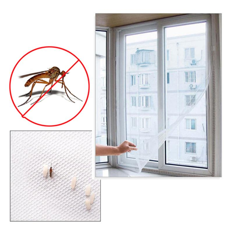 Window Mosquito Net DIY Net Flyscreen Curtain Anti Insect Fly Mosquito Bug Curtains Window Screen For Home New Fashion
