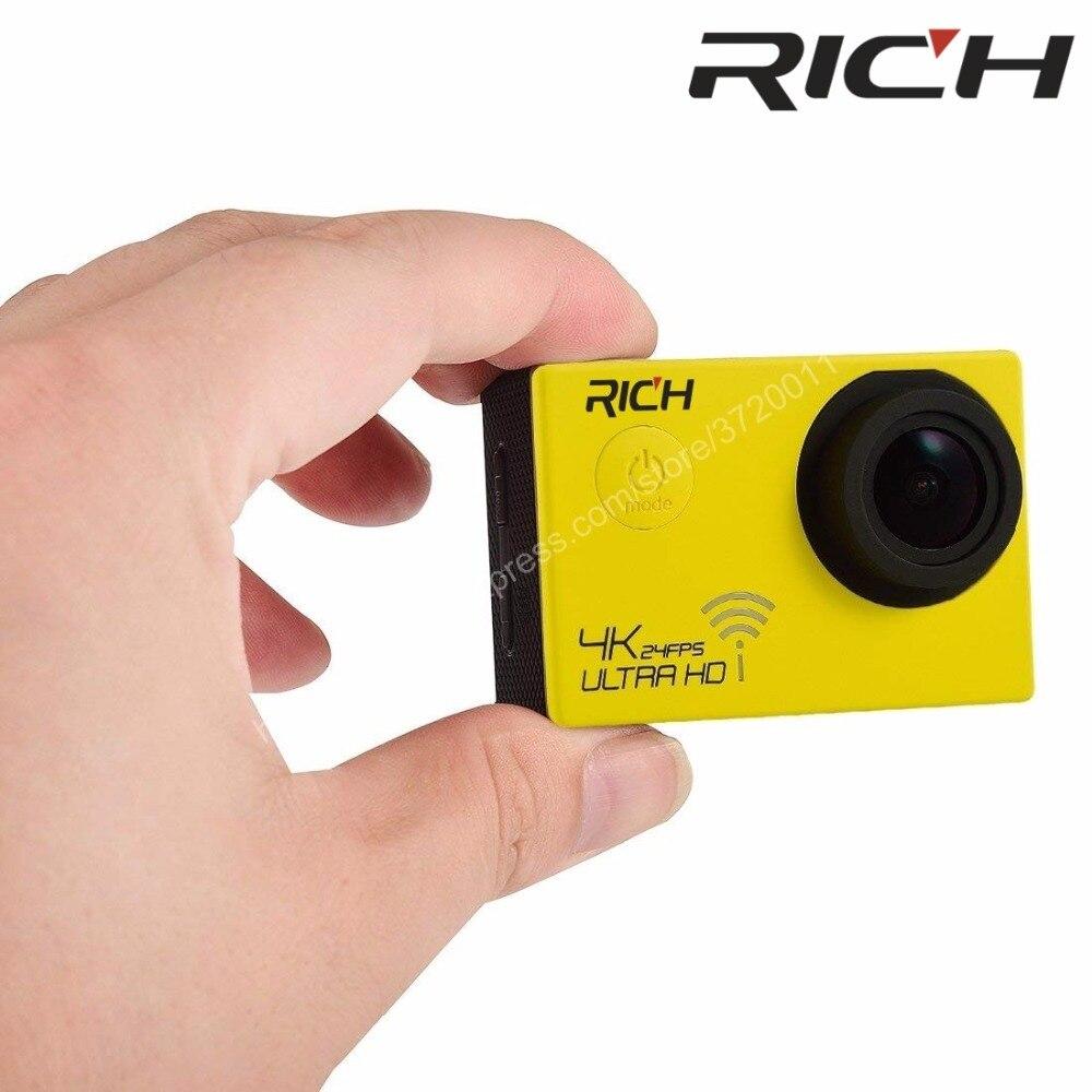 Богатая Экшн-камера Ultra HD 4K сенсорный экран WiFi 2,0