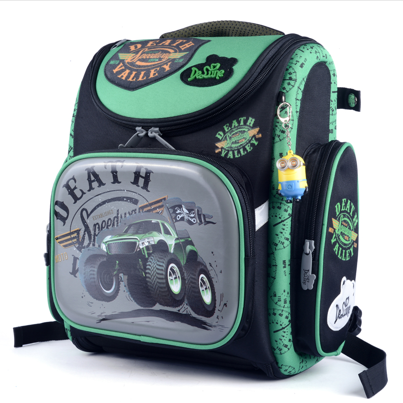 цена на High quality brand COOL car children school bag kids free Doll students folding boys backpack travel cartoon protect child bag