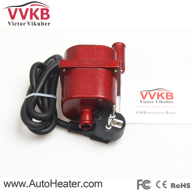Auto heater Rapid heating Security Easy to use With the pump voltage 220V power 2000W engine block heater car accessories
