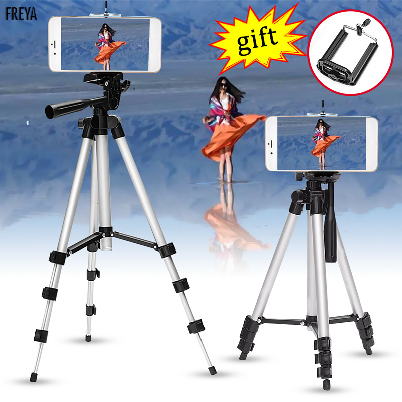 Telescopic Mobile Cell Phone Digital Camera Camcorder Flexible Tripod Stand Mount w/ Holder For Canon for Nikon for iPhone 6 7 8 kinston kst91869 butterfly w rhinestones pattern pu case w stand for iphone 6 white blue