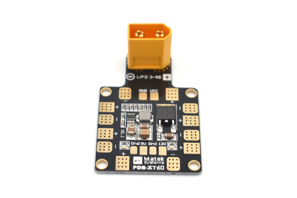 ФОТО matek systems pdb xt60 w/ bec 5v & 12v 2oz copper for rc racing cross helicopter quadcopter muliticopter drone toys fpv+