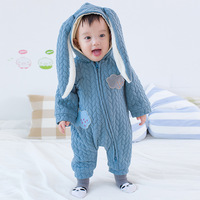 2018 Autumn Infant Baby Clothing Baby Rompers Baby Boy Girl Rompers Kids Costume Long Sleeve Hooded