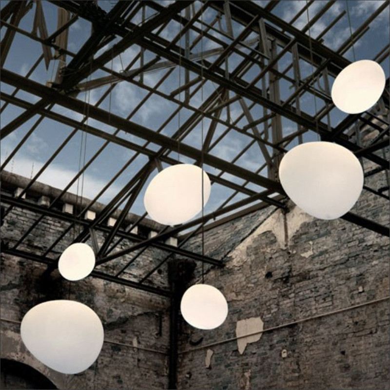 Modern Glass Pendant Lights Italy Foscarini Gregg Hanging Lamp Led Irregular Pendant Lamp Dining Room Kitchen Loft Light Fixture