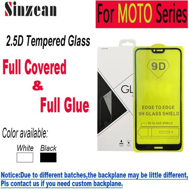 100 stücke 9D Volle Kleber Gehärtetem Glas für MOTO G8 Plus/G8 Spielen/G8 Power/G7 Spielen/G7 Power/E6 Plus/E6 Spielen 2,5 D Screen Protector