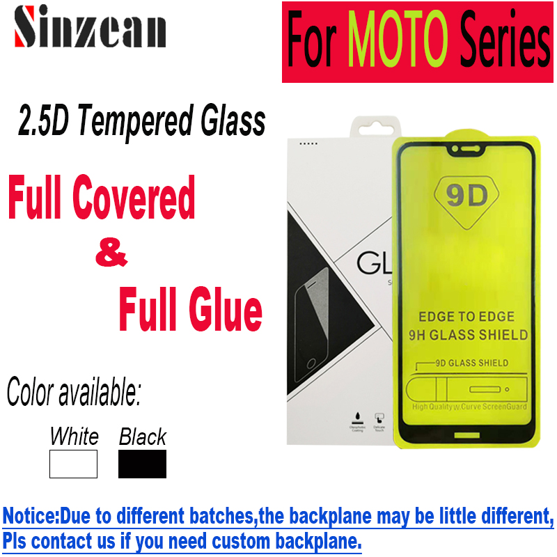 100pcs 9D Full Glue Tempered Glass for MOTO G8 Plus/G8 Play/G8  Power/G7 Play/G7 Power/E6 Plus/E6 Play 2.5D Screen ProtectorPhone  Screen Protectors