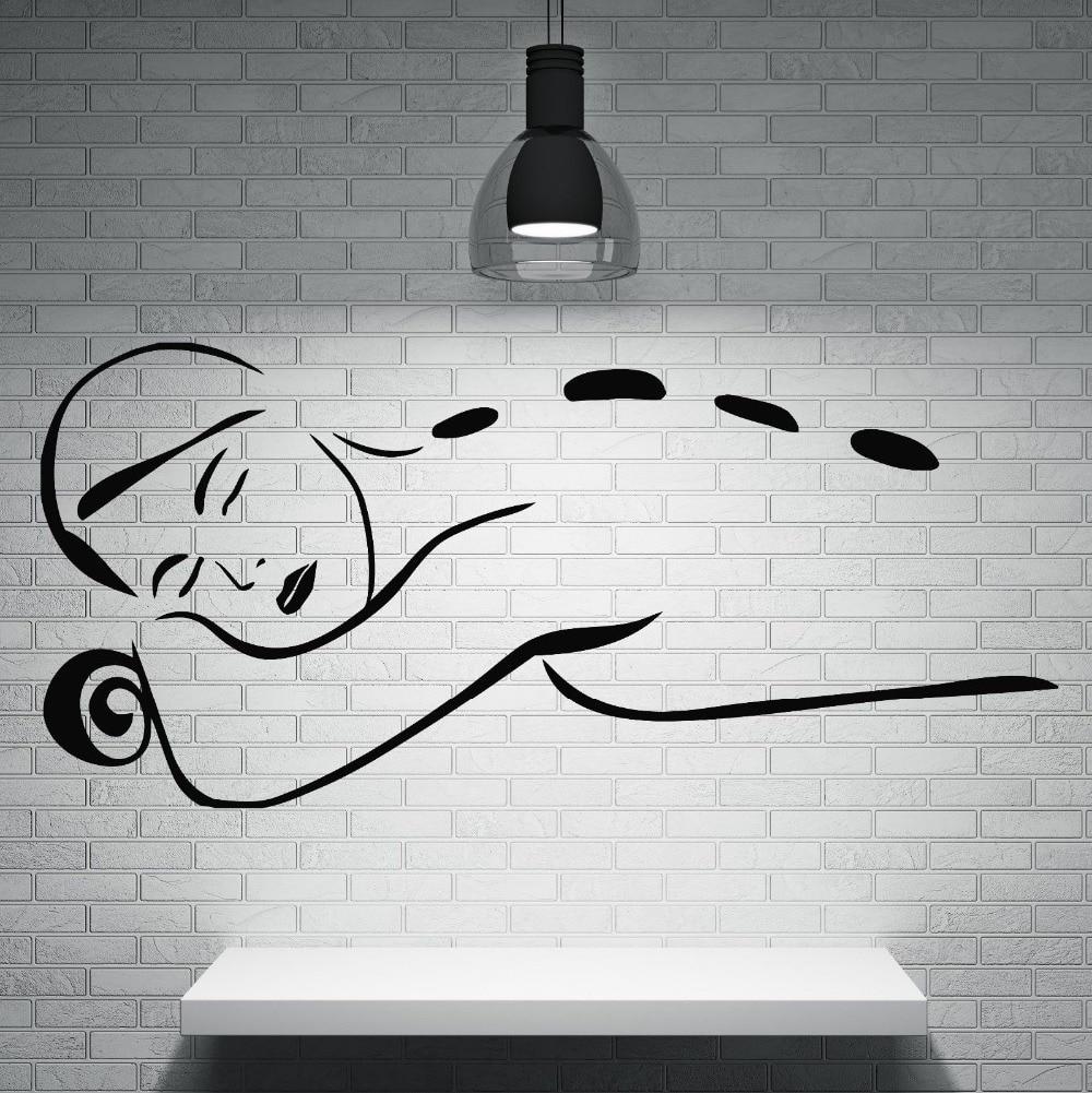 Decoration De Spa dedans massage vinyl wall decal women spa beauty salon massage health wall