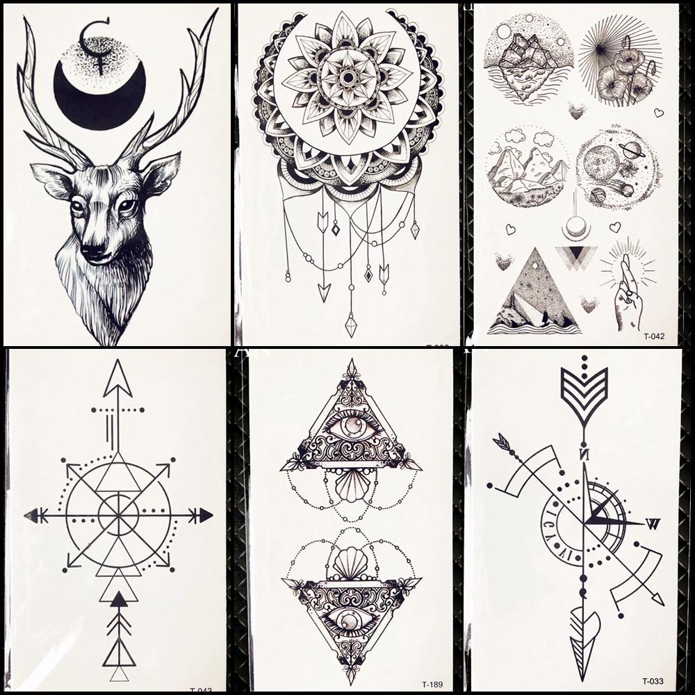 2453 руб 8 скидкаочарование черный луна временные карандаш для татуировки эскизы