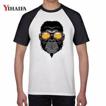 Summer Newest T Shirts Creative Orangutan Monkey Animal Print Graphic Tees Men Women Casual Hip Hop Tee Short Sleeve Tops monkey print tee