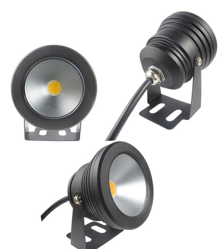 1pcs Outdoor black color Case 10W Underwater LED Flood Wash Pool Waterproof Light Spot Lamp 12V Whoelsale