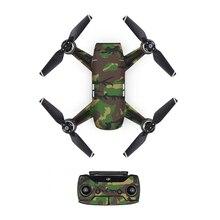 [DJS0014] модная камуфляжная наклейка из ПВХ для DJI Spark Drone body+ пульт дистанционного управления+ 3 батареи Защитная крышка