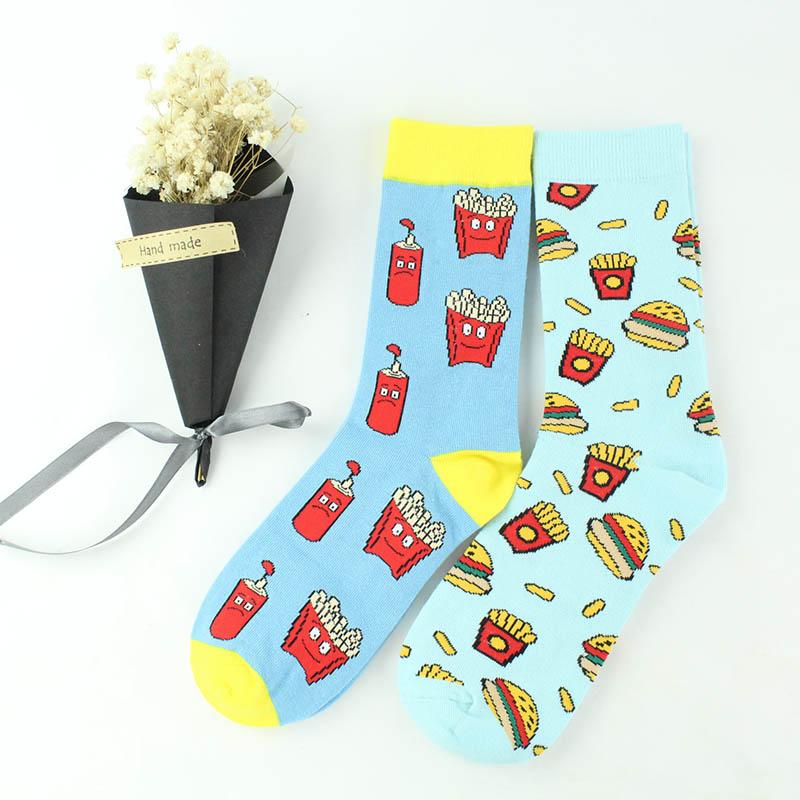 COSPLACOOL Harajuku Funny Socks Food Pizza Hamburg Sushi Cute Socks Women Divertidos Skarpetki Creative Sokken Chaussette Femme in Socks from Underwear Sleepwears