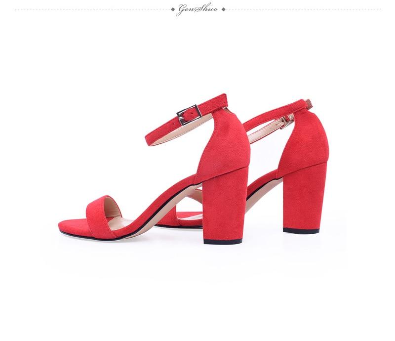HTB1LWUskjnD8KJjSspbq6zbEXXaL GENSHUO 2019 Ankle Strap Heels Women Sandals Summer Shoes Women Open Toe Chunky High Heels Party Dress Sandals Big Size 42